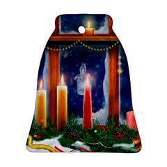 Christmas Lighting Candles Bell Ornament (2 Sides)