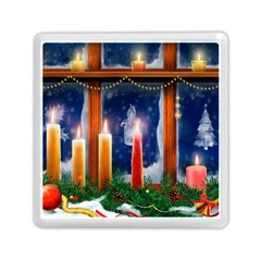 Christmas Lighting Candles Memory Card Reader (Square)