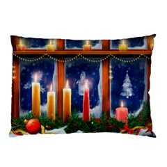 Christmas Lighting Candles Pillow Case (Two Sides)