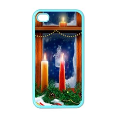 Christmas Lighting Candles Apple iPhone 4 Case (Color)