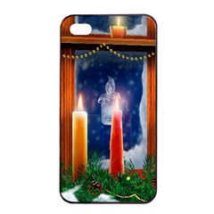 Christmas Lighting Candles Apple iPhone 4/4s Seamless Case (Black)