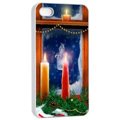Christmas Lighting Candles Apple iPhone 4/4s Seamless Case (White)