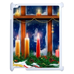 Christmas Lighting Candles Apple iPad 2 Case (White)