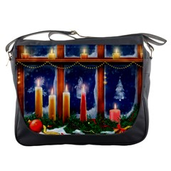 Christmas Lighting Candles Messenger Bags