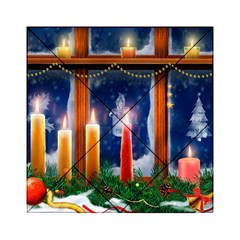 Christmas Lighting Candles Acrylic Tangram Puzzle (6  x 6 )
