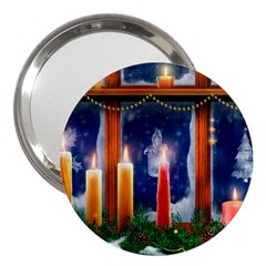 Christmas Lighting Candles 3  Handbag Mirrors