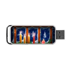 Christmas Lighting Candles Portable USB Flash (One Side)