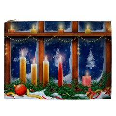 Christmas Lighting Candles Cosmetic Bag (XXL)