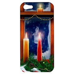 Christmas Lighting Candles Apple iPhone 5 Hardshell Case