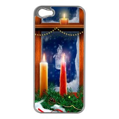 Christmas Lighting Candles Apple iPhone 5 Case (Silver)