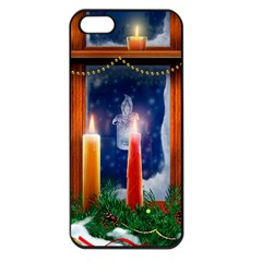 Christmas Lighting Candles Apple iPhone 5 Seamless Case (Black)