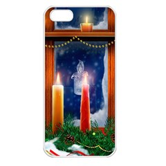 Christmas Lighting Candles Apple iPhone 5 Seamless Case (White)