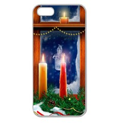 Christmas Lighting Candles Apple Seamless iPhone 5 Case (Clear)