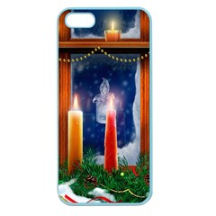 Christmas Lighting Candles Apple Seamless iPhone 5 Case (Color)