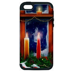 Christmas Lighting Candles Apple iPhone 5 Hardshell Case (PC+Silicone)