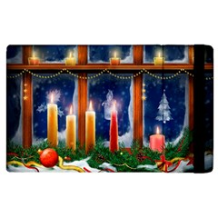 Christmas Lighting Candles Apple iPad 2 Flip Case