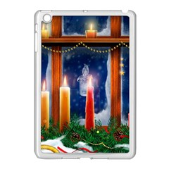 Christmas Lighting Candles Apple iPad Mini Case (White)