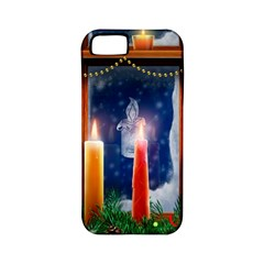 Christmas Lighting Candles Apple iPhone 5 Classic Hardshell Case (PC+Silicone)