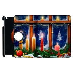 Christmas Lighting Candles Apple iPad 2 Flip 360 Case