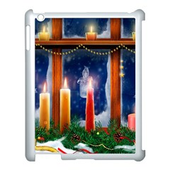 Christmas Lighting Candles Apple iPad 3/4 Case (White)