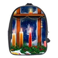 Christmas Lighting Candles School Bags (XL)
