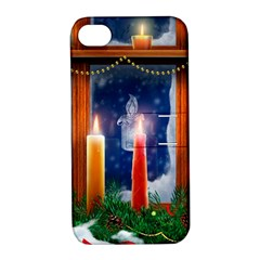 Christmas Lighting Candles Apple iPhone 4/4S Hardshell Case with Stand