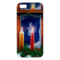 Christmas Lighting Candles Apple iPhone 5 Premium Hardshell Case