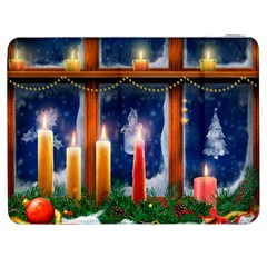 Christmas Lighting Candles Samsung Galaxy Tab 7  P1000 Flip Case