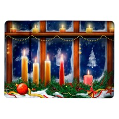 Christmas Lighting Candles Samsung Galaxy Tab 10.1  P7500 Flip Case