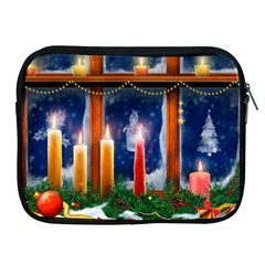 Christmas Lighting Candles Apple iPad 2/3/4 Zipper Cases
