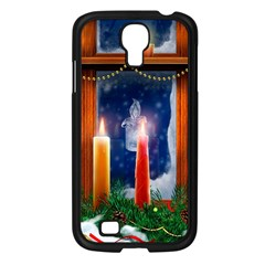 Christmas Lighting Candles Samsung Galaxy S4 I9500/ I9505 Case (Black)