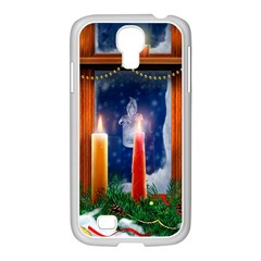 Christmas Lighting Candles Samsung GALAXY S4 I9500/ I9505 Case (White)