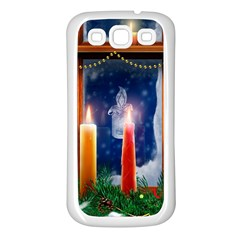 Christmas Lighting Candles Samsung Galaxy S3 Back Case (White)
