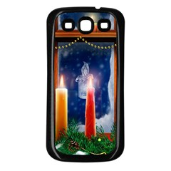 Christmas Lighting Candles Samsung Galaxy S3 Back Case (Black)