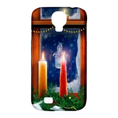 Christmas Lighting Candles Samsung Galaxy S4 Classic Hardshell Case (PC+Silicone)