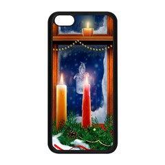 Christmas Lighting Candles Apple iPhone 5C Seamless Case (Black)