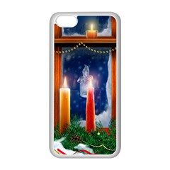 Christmas Lighting Candles Apple iPhone 5C Seamless Case (White)