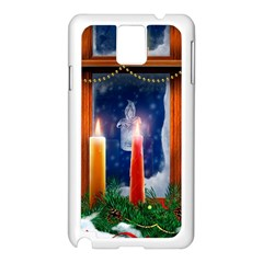 Christmas Lighting Candles Samsung Galaxy Note 3 N9005 Case (White)