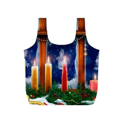 Christmas Lighting Candles Full Print Recycle Bags (S)