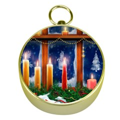 Christmas Lighting Candles Gold Compasses