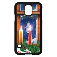 Christmas Lighting Candles Samsung Galaxy S5 Case (Black)
