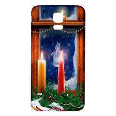 Christmas Lighting Candles Samsung Galaxy S5 Back Case (White)