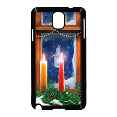Christmas Lighting Candles Samsung Galaxy Note 3 Neo Hardshell Case (Black)