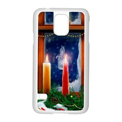 Christmas Lighting Candles Samsung Galaxy S5 Case (White)