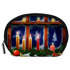 Christmas Lighting Candles Accessory Pouches (Large)