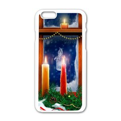 Christmas Lighting Candles Apple iPhone 6/6S White Enamel Case