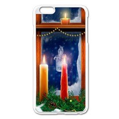 Christmas Lighting Candles Apple iPhone 6 Plus/6S Plus Enamel White Case