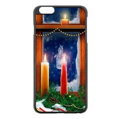 Christmas Lighting Candles Apple iPhone 6 Plus/6S Plus Black Enamel Case
