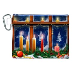 Christmas Lighting Candles Canvas Cosmetic Bag (XXL)