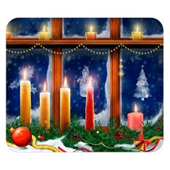 Christmas Lighting Candles Double Sided Flano Blanket (Small)